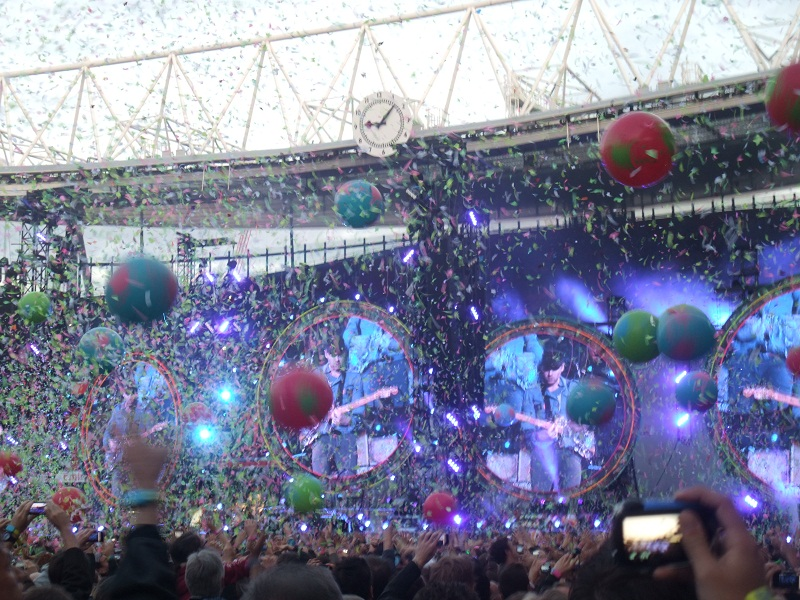 Coldplay at the Emirates Stadium, London