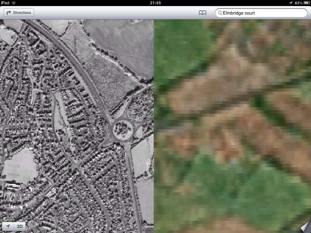 Apple Maps - Gloucestershire UK (via theamazingios6maps tumblr)