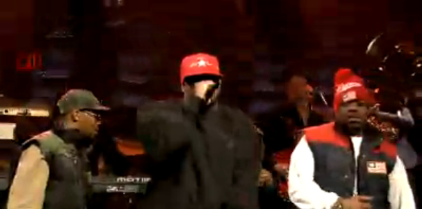 Wu-Tang Clan and the Roots Team Up for -Protect Ya Neck- on -Late Night With Jimmy Fallon-(Screen Cap)