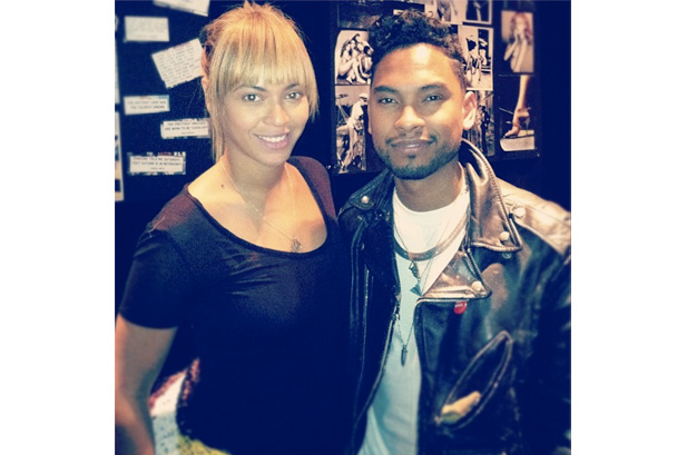 beyonce - miguel - studio (via Miguel&#039;s Instagram)