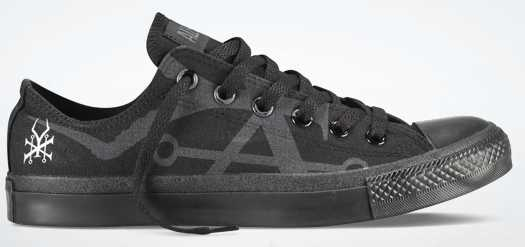 Soundgarden Chuck Taylor Converse shoe via Converse screen cap
